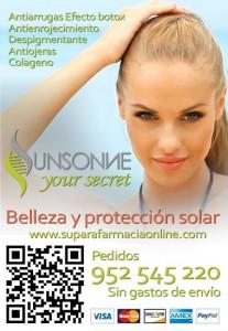 sunsonne anuncio texto